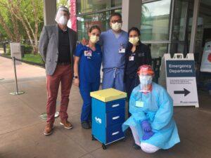 California Emergency Nurse Heroes with their 1st HEROCart