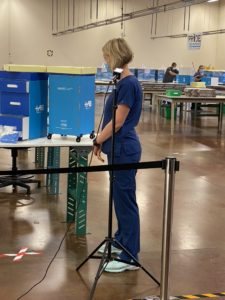 TV Interview with RN Melissa Jordan, HEROCart in background