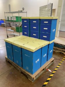 18 HEROCarts per pallett, kitted with PPE ready to ship